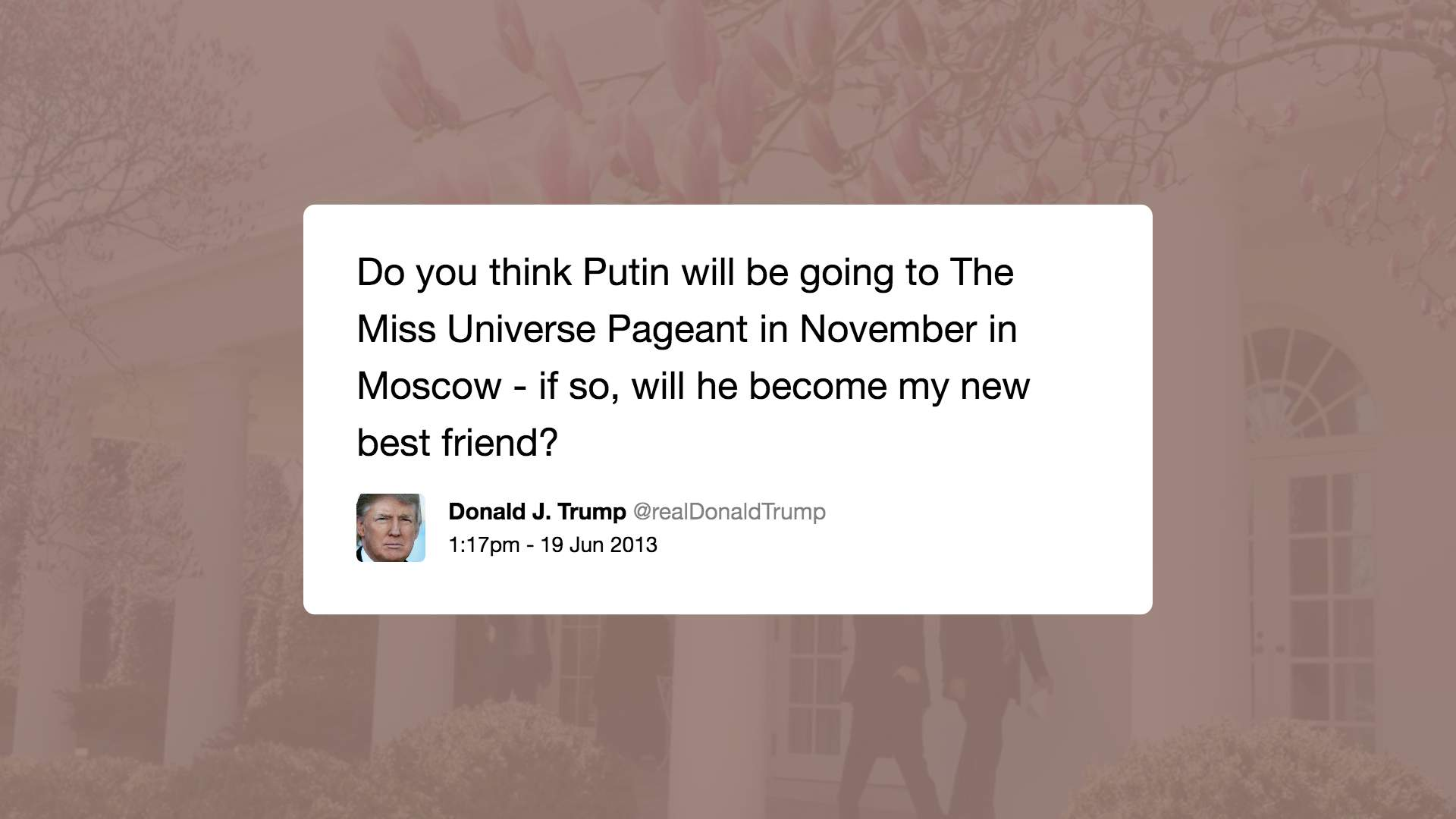 Trump Putin tweet